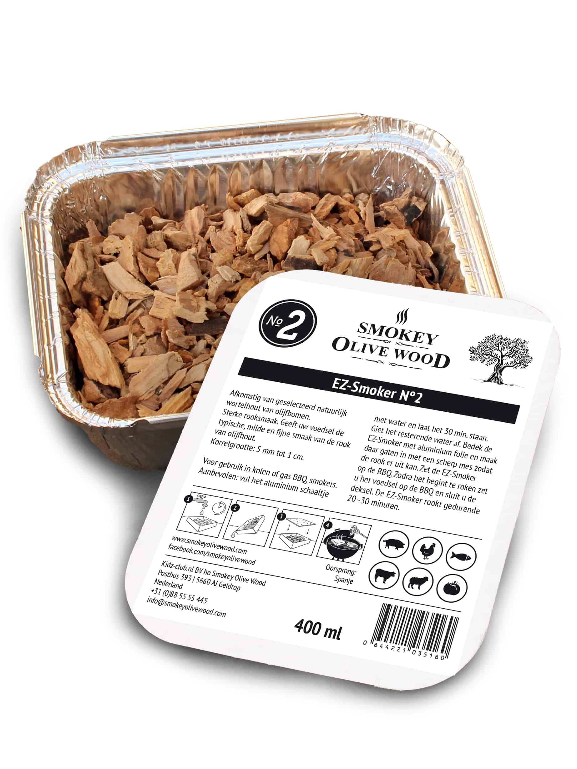SOW EZ-Smoker Olijfhout rookchips Nº2