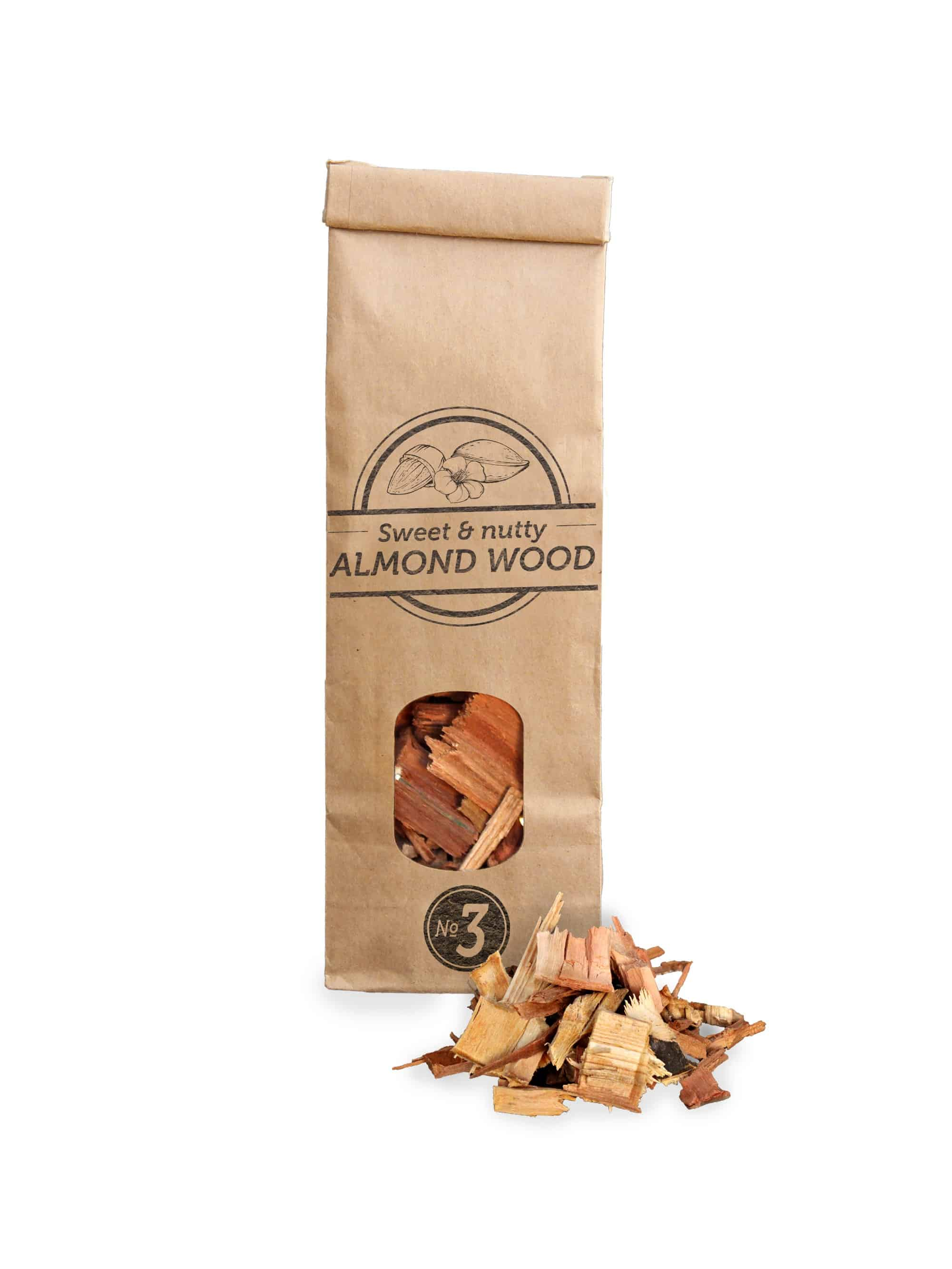 SOW Almond Wood Smoking Chips Small Pack Nº3